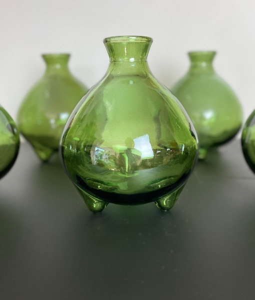 small green vase recycled glass